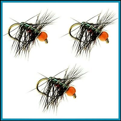 🐠, Trout Flies, BiBiO FLIES, MICRO, Hook, Sizes 10 to 24, FLY FISHING, UK, 🐠