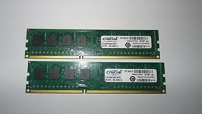 8GB (2x 4GB) DDR3 RAM Crucial CT51264BA160B - PC3-12800U 1600 MHz