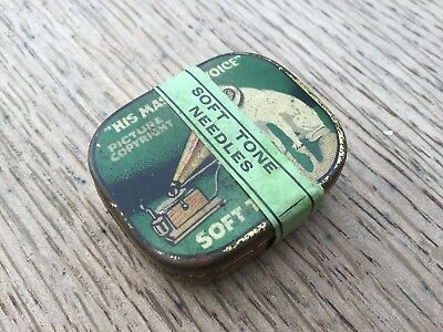 HMV - His Masters Voice Gramophone Soft Tone Needle Tin Sealed