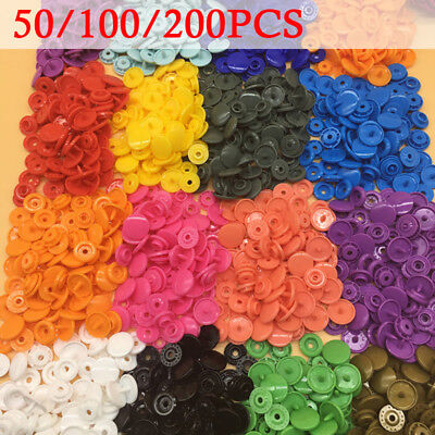 100/150/200 Sets T5 Plastic Snaps Snap Starter Buttons Poppers Fasteners Lot New