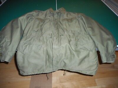 Vintage Army Green Field Jacket Korean Era M-1951 With M51 Cold Weather Liner