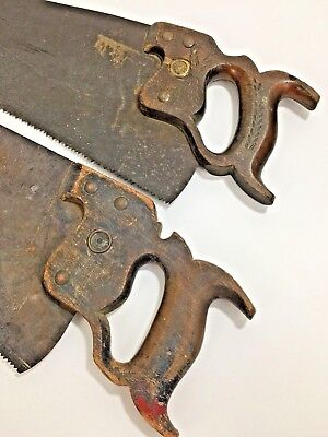 """Lot of 2 Vintage Warranted Superior Saw Wheat Handle Medallion Nuts 25"""" 26"""""""