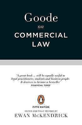 Goode on Commercial Law: Fifth Edition by Professor Sir Roy Goode (Paperback, 2…