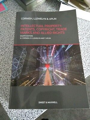 Cornish Llewellyn And Aplin, Intellectual Property, 8th Ed, brand new