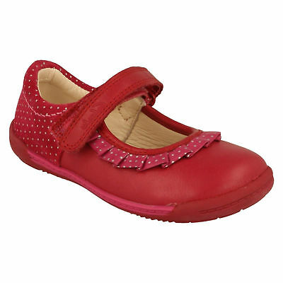 Softly Stef Girls Clarks Leather Mary Jane Hook & Loop Strap Casual First Shoes