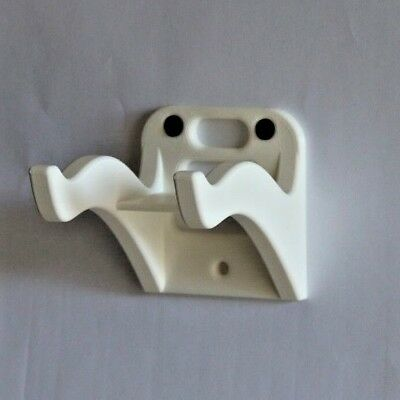White Guitar Wall Hanger Mount Holder Hook For Electric Acoustic Classical Bass