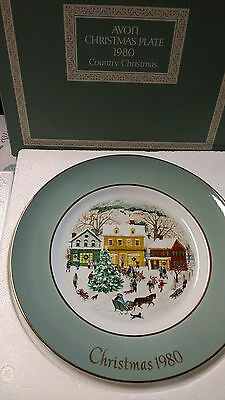 vintage avon christmas plate wedgwood 1980 country christmas