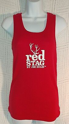 Jim Beam Red Stag Men's T Shirt - Red - Deer Logo - Large - .NEW