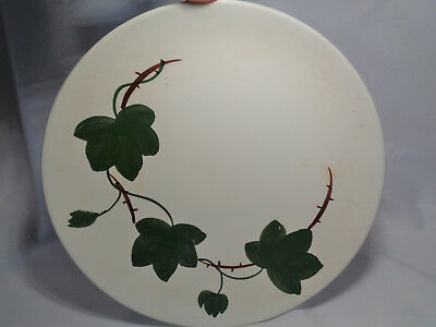 "Vintage Blue Ridge Pottery 8 1/2"" Dinner Plate Green Ivy Leaves 11B"
