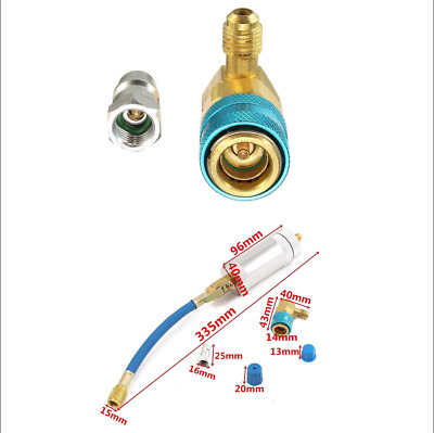 Car Oil&Dye Injector+ Coupler Adapter Kit for add Fluorine To car A/C R134A R12
