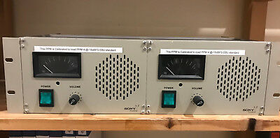 SONY STEREO Loudspeaker and PPM Monitoring Unit