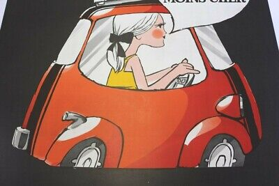 AFFICHE ANCIENNE ORIGINALE ISETTA VELAM ISO BMW microcar FRIMATIC refrigerateur