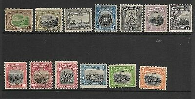 13 Early Company de Mozambique Stamps, Mostly Unused