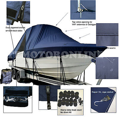 Pro-line 241 WA Walkaround T-Top Hard-Top Fishing Storage Boat Cover Heavy Duty