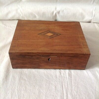 Pretty Vintage Style Small Wooden Writing Slope/Box