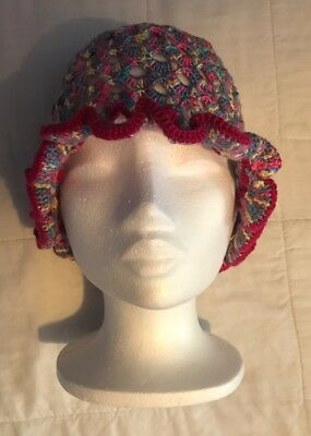 Handmade crochet hat size 23″, multicoloured , girls