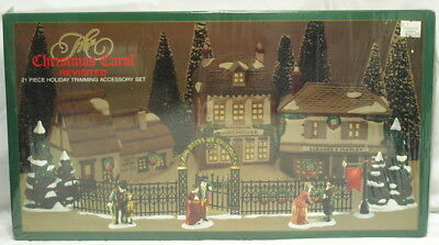 """Dept 56 """"the Christmas Carol Revisited"""" Brand New Still In Wrap (21 Pieces)"""