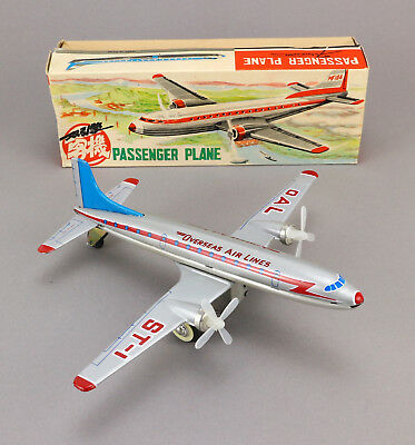 CHINA MF 104 Passanger Air Plane OVP Blech Flugzeug Vintage Tin Toy Boxed