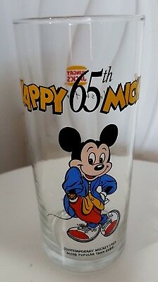 COLLECTABLE MICKEY MOUSE - Hungry Jacks Promotional Glass Excellent  Condition!