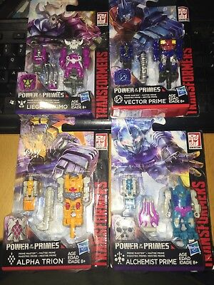 Transformers Power Of The Primes LOT OF 4 Assorted Figures / New (DP-0003-4-5-6)