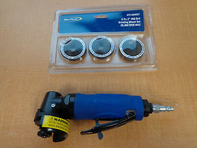 """NEW! Blue Point 2"""" Air Angle Grinder AT215 With Grinding Wheels FREE SHIPPING!"""