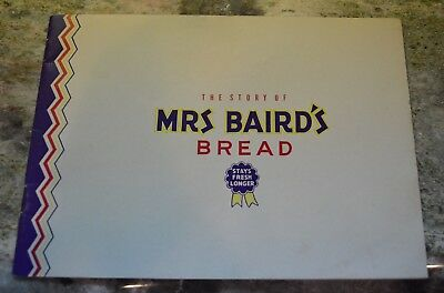 Vintage 1958 Story of Mrs. Baird's Bread Pictorial booklet Fort Worth Texas