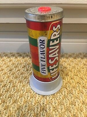 Life Savers Five Flavors Tin Pencil Sharpener- Licensed by Nabisco Circa 1992