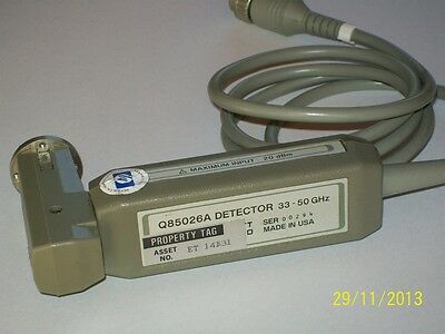 AGILENT HEWLETT PACKARD HP Q85026A detector WR22 Q band 33-50 ghz HP8757