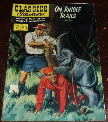 Classics Illustrated No.75 On jungle trails see both images