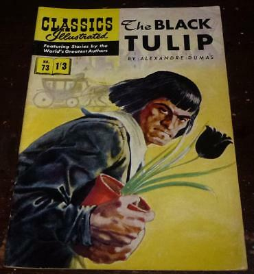 Classics Illustrated No.73 The black tulip see both images