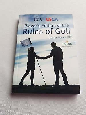 Player's Edition of the Rules of Golf effective January 2019
