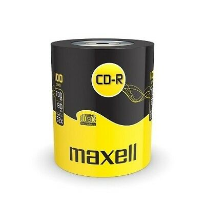 100 Maxell CD-R 52x Rohlinge 700MB Rohling  Auf Spindel