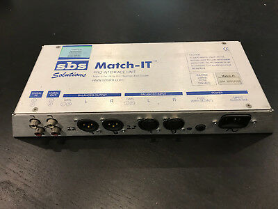 SBS Solutions Match-IT Pro Interface Unit