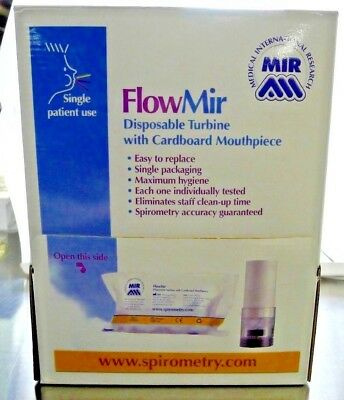 FlowMir 910004 Disposable Turbine With Cardboard Mouth Piece Box of 45 NEW