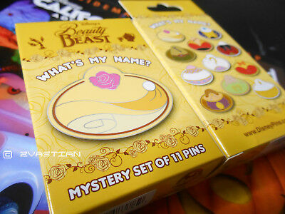 Disney What's My Name? Beauty and the Beast Collection Pin Mystery Box Cast Excl