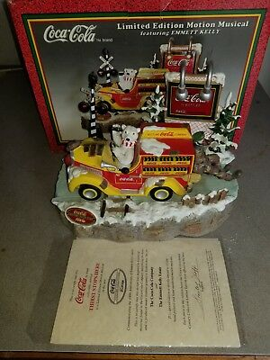 Limited Edition Coca Cola Motion Musical Emmett Kelly Thirst Stops Here Truck SS