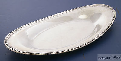 Oneida Silver Plated Vintage Oval Serving Tray, Good Condition (#2160)
