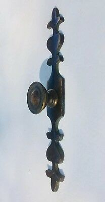 Country French Prov Antique Hardware Vintage Drawer Pull Knob Brass Cabinet Pull