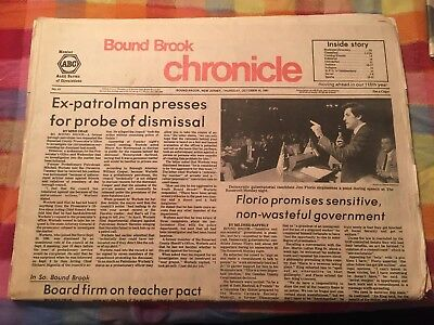 Bound Brook Chronicle October 1981 Jim Florio Auto Show Mr. Bee Ad Newspaper