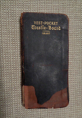 Rare Antique 1901 Masonic Vest Pocket Trestle-Board Working Tools By H.B. Grant