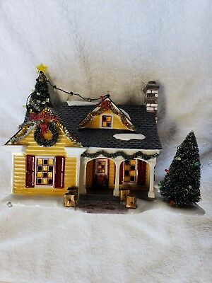 Dept 56 Snow Village The Noel House #55341 Christmas Lane. Not complete.