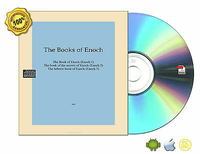 All Complete 1,2,3 The Book of Enoch,the secrets,The hebrew Non-Audio CDROM PDF