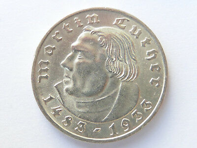 G347    DRITTES REICH 2,- Mark 1933 F Luther
