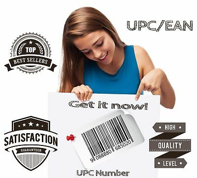 1000 Pieces UPC EAN for E-commerce Numbers Barcodes US UK EU Approved Guarantee