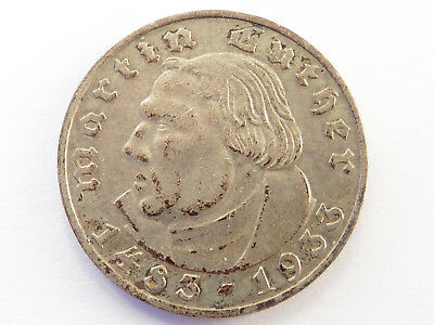 F99      DRITTES REICH 2,- Mark 1933 A Luther