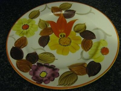 Grays Pottery Hanley Art Deco Handpainted Abstract Plate Truly Stunning.