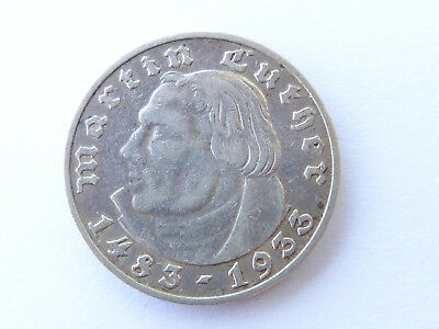 G723       DRITTES REICH 2,- Mark 1933 J Luther