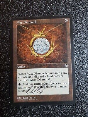 Mox Diamond from Stronghold edition. Autografed
