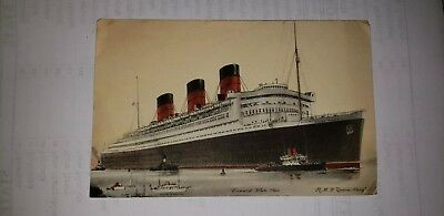 Early Abstract Of Log Of The Cunard White Star R.m.s. Queen Mary Card