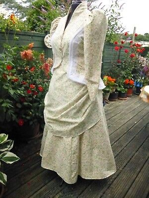 Victorian Costume Size 45 Bust Lovely Floral Cotton